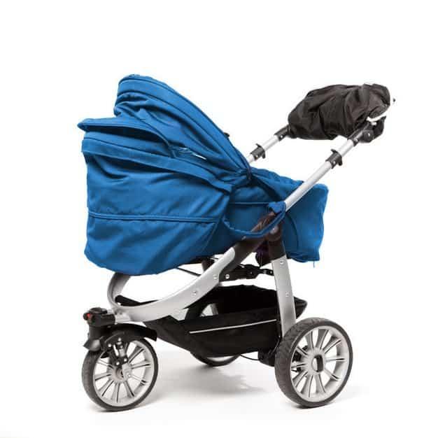 Poussette bleue pour bébé