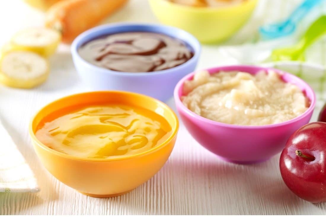 bols de purée pour bébé