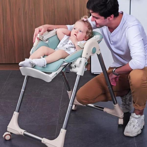Chaise haute multifonction pour b b pliable chaise de Table manger pour enfant avec roues amovibles.jpg 1