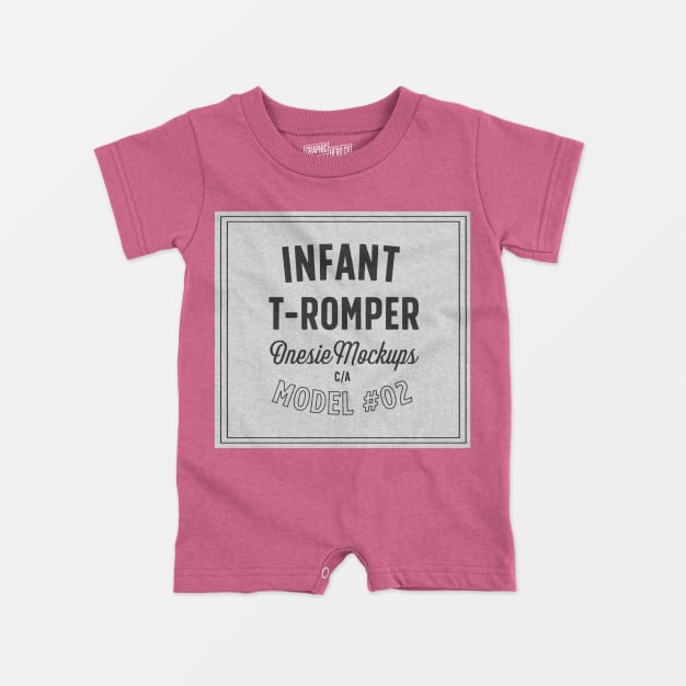 Barboteuse de couleur rose pour bébé