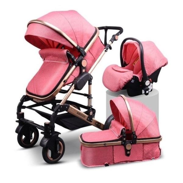 pink poussette de bebe 3 en 1 poussette de p variants 1